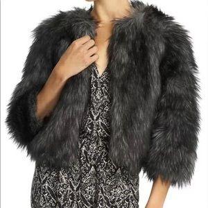 Michael Kors faux fur cropped coat NEW